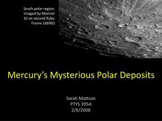 Mercury s Mysterious Polar Deposits