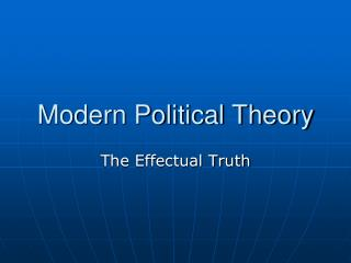 Modern Political Theory