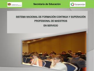 Sistema Nacional de Formaci n Continua y Superaci n Profesional de Maestros  en Servicio