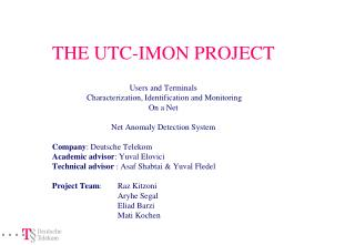 THE UTC-IMON PROJECT