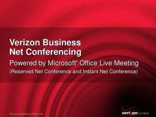 Verizon Business  Net Conferencing