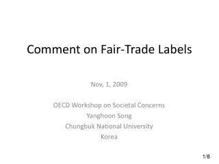 Comment on Fair-Trade Labels