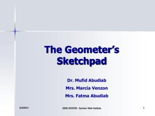 The Geometer s Sketchpad