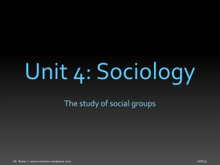 SOCIAL STRATIFICATION AND SOCIAL INEQUALITY