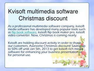 Kvisoft multimedia software Christmas discount