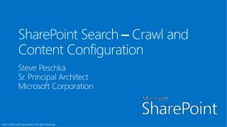 Enterprise Search - Crawl and Content Configuration