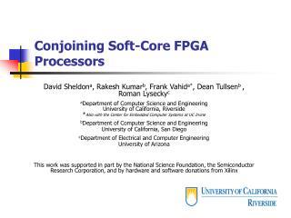 Conjoining Soft-Core FPGA Processors