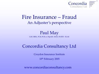 Fire Insurance   Fraud An Adjuster s perspective