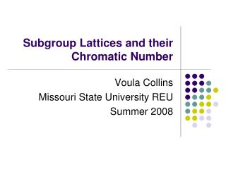 Subgroup Lattices and their Chromatic Number