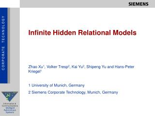 Infinite Hidden Relational Models