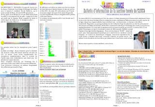 Page 1 :Smatch Infos ; Les Indiscr tions du bureau Page 2 : Le coin des  quipes ; R sultats du club d Ach res Page 3