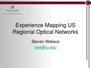 Experience Mapping US Regional Optical Networks
