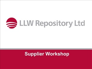 Supplier Workshop