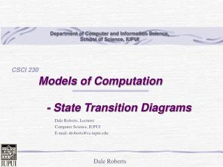 Models of Computation              - State Transition Diagrams