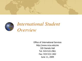 International Student Overview