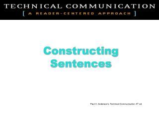 Constructing Sentences