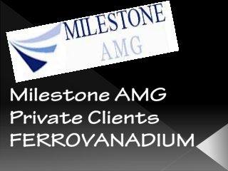 Milestone AMG Private Clients FERROVANADIUM
