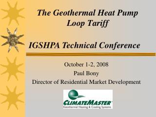The Geothermal Heat Pump Loop Tariff