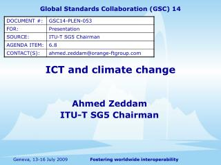 ICT and climate change