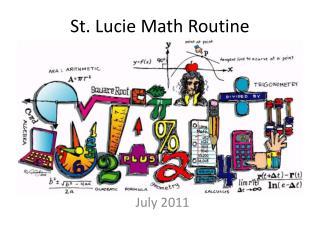 St. Lucie Math Routine
