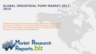 Global Industrial Pump Market 2011-2015