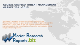 Global Unified Threat Management Market 2011-2015
