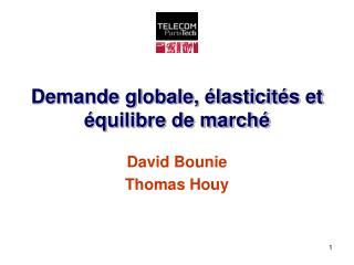 Demande globale,  lasticit s et  quilibre de march