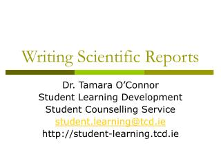 Writing Scientific Reports