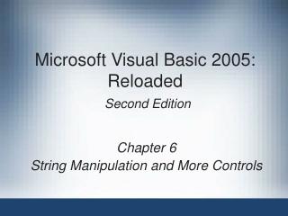 Microsoft Visual Basic 6.0  -- Section 9