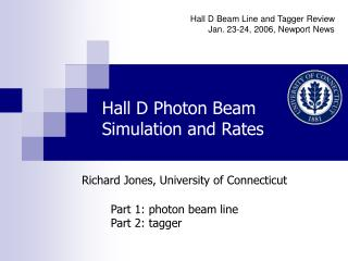 Hall D Photon Beam Simulation and Rates