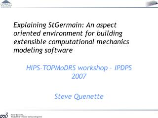 Explaining StGermain: An aspect oriented environment for building extensible computational mechanics modeling software