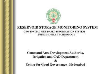 RESERVOIR STORAGE MONITORING SYSTEM