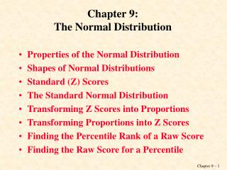 Chapter 9: The Normal Distribution