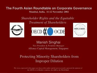The Fourth Asian Roundtable on Corporate Governance Mumbai, India,  11-12 November 2002