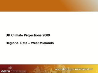 UK Climate Projections 2009  Regional Data   West Midlands