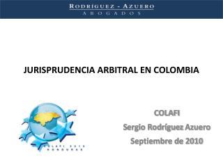 JURISPRUDENCIA ARBITRAL EN COLOMBIA