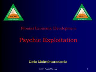 Proutist Economic Development  Psychic Exploitation
