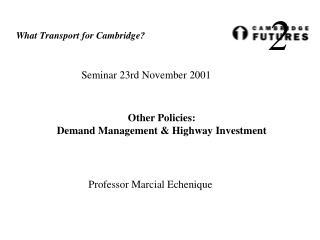 Seminar 23rd November 2001