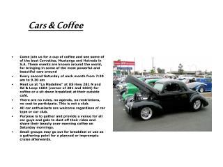 Cars  Coffee