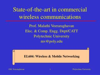 State-of-the-art in commercial wireless communications