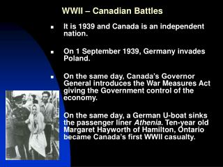 WWII   Canadian Battles