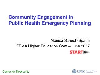 Community Engagement in Public Health Emergency Planning