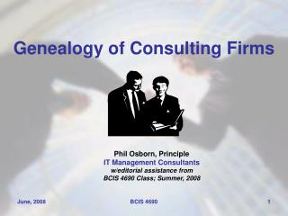 Genealogy of Consulting Firms