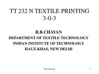 TT 232 N TEXTILE PRINTING 3-0-3