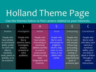 Holland Theme Page