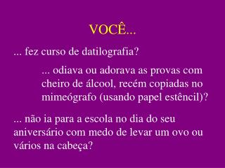 VOC ...