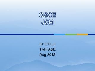 OSCE JCM