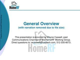 General Overview with narration removed due to file size