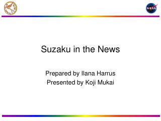 Suzaku in the News