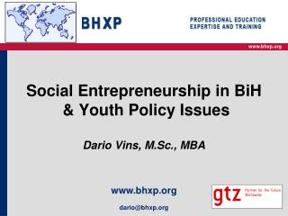 Social Entrepreneurship in BiH   Youth Policy Issues